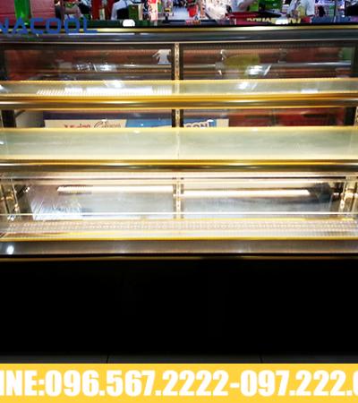 tủ trưng bày bánh sinh nhật kính cong