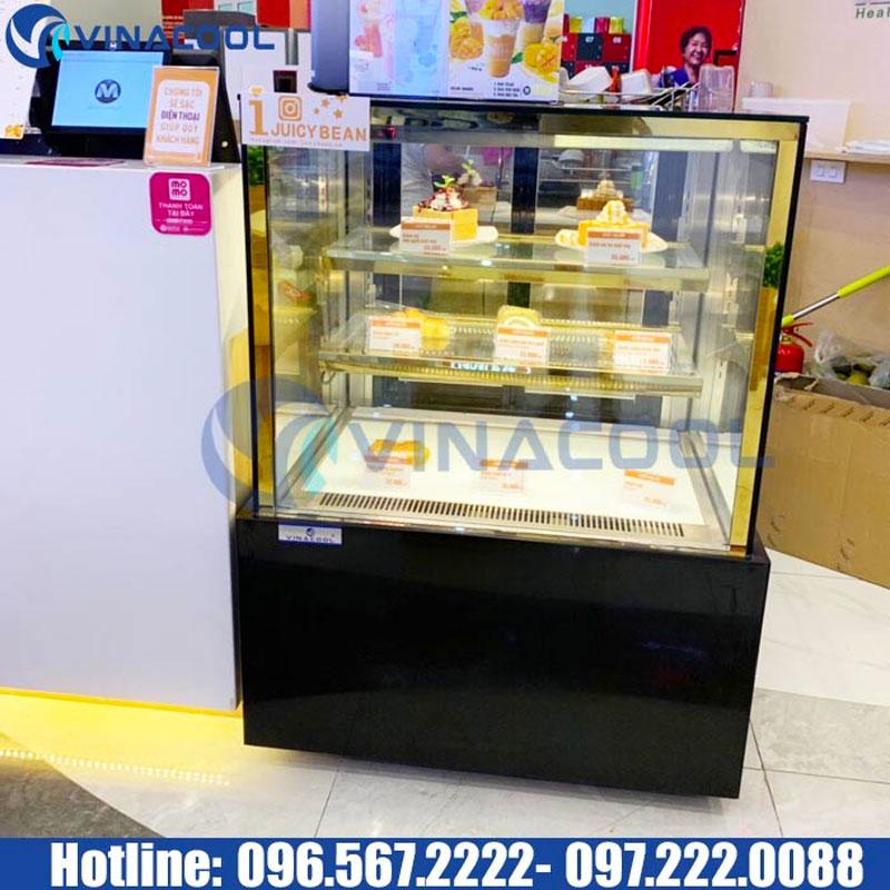 Tủ bánh kem 3 tầng kính vuông