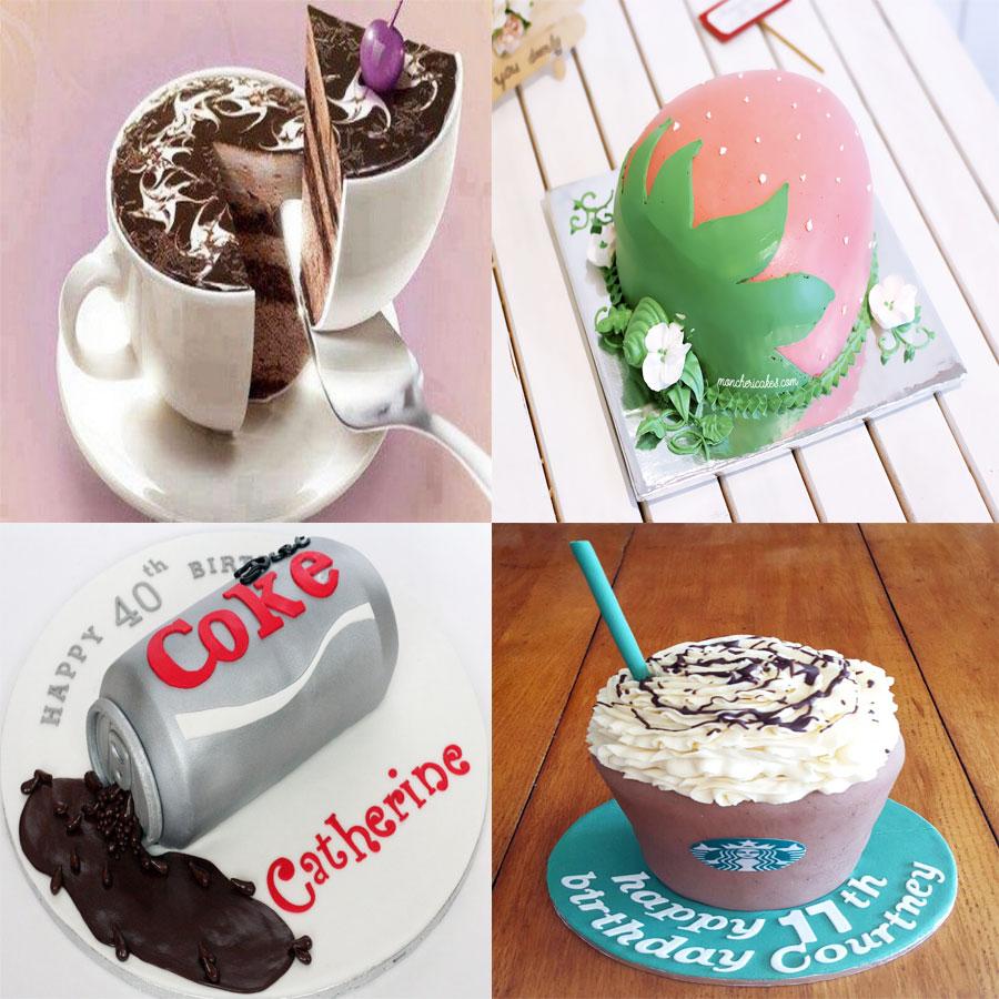 6. Bánh kem tạo hình ly cafe độc đáo
