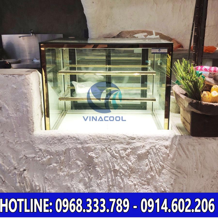 Tủ bánh kem để bàn kính vuông Vinacool
