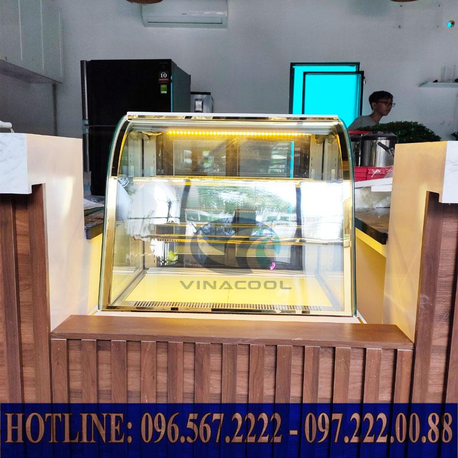 Tủ bánh kem kính cong 3 tầng Vinacool