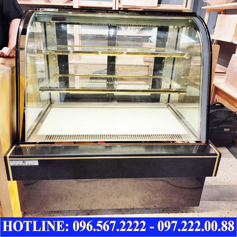 Tủ trưng bày bánh kem 3 tầng kính cong